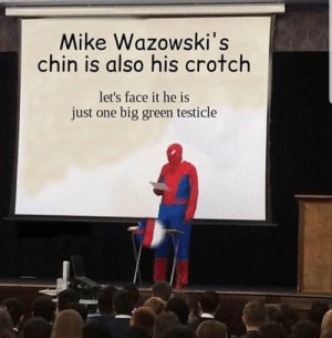 Reddit, Big, and One: Mike Wazowski's  chin is also his crotch  let's face it he is  just one big green testicle One green testical