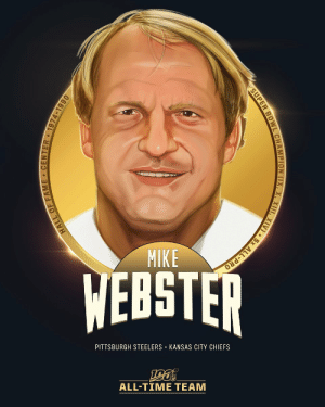 Mike Webster is one of the four centers selected to the #NFL100 All-Time Team!  💪 4x Super Bowl Champion 💪 5x First-Team All-Pro 💪 9x Pro Bowler 💪 NFL 1970s and 1980s All-Decade Teams https://t.co/gnjXTTzs9A: MIKE  WEBSTER  PITTSBURGH STEELERS · KANSAS CITY CHIEFS  ALL-TIME TEAM  HALL OF FAME • CENTER 1974-1990  SUPER BOWL CHAMPION (IX, X, XIII, XIV) • 5x ALL-PRO Mike Webster is one of the four centers selected to the #NFL100 All-Time Team!  💪 4x Super Bowl Champion 💪 5x First-Team All-Pro 💪 9x Pro Bowler 💪 NFL 1970s and 1980s All-Decade Teams https://t.co/gnjXTTzs9A