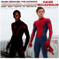 Memes, 🤖, and Mcu: MILES MORALES: TH ULTIMATE CALEB  MCLAUGHLIN  FAN CAST  IGI GDC MARVEL UNITE MCU FANCAST : @therealcalebmclaughlin from StrangerThings for MilesMorales in a Future SpiderMan Movie…he could maybe even team up with TomHolland's Spidey in a Future Film ! Comment Below your Thoughts and who you would Cast as Miles in an UltimateSpiderMan Movie ! 🕷 MarvelCinematicUniverse 🕸 CalebMcLaughlin