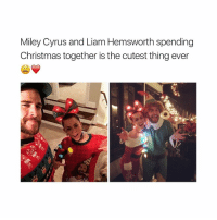 🎄: Miley Cyrus and Liam Hemsworth spending  Christmas together is the cutest thing ever 🎄