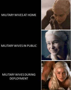 Home, Military, and Trashy: MILITARY WIVES AT HOME  MILITARY WIVES IN PUBLIC  MILITARY WIVES DURING  DEPLOYΜΕNT Split