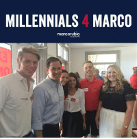 College, Memes, and Millennials: MILLENNIALS 4 MARCO  marcorubio  US SENATE We're proud to announce our Millennials for Marco coalition! I'll continue to fight for Florida students and work to ensure that students are not crippled by college debt, or left in the dark about critical information like career-earning potential and graduation rates before they enter college.  Join our Millennials for Marco team today: http://bit.ly/2dnc4JX