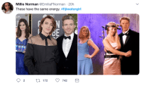 We already know who the real star of the night was, and the memes and tweets keep on coming! Here is a collection of the best tweets and memes all about the Fiji Girl! #fijigirl #fijiwater #fijiwatergirl #fijiwatergirlmemes #funnymemes #viral #trending #memes #fijigirlmemes #lol #goldenglobes: Millie Norman @EmiliaFNorman 20h  These have the same energy. #fijiwatergirl  FP  re We already know who the real star of the night was, and the memes and tweets keep on coming! Here is a collection of the best tweets and memes all about the Fiji Girl! #fijigirl #fijiwater #fijiwatergirl #fijiwatergirlmemes #funnymemes #viral #trending #memes #fijigirlmemes #lol #goldenglobes