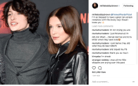 Blessed, Crying, and Life: milliebobbybrown Following  milliebobbybrown @finnwolfhardofficial  I'm so blessed to have a great (on screen  romance) with this lovely boy! Eleven  loves you  Load more comments  mariahlumsdenn im not crying you are  mariahlumsdenn i just finished s2 im  mit_hZİ Woah Daneel Harries and Ezra  Miller when they were kids  mariahlumsdenn i cant belive they did  what they do best AGAIN  mariahlumsdenn and slayed my life  mariahlumsdenn thank you so much  kimyaba l'm shook  stranger.reddies Lmao all the fillie  shippers are crying over this post  941,292 likes  1 DAY AGO  Add a comment..