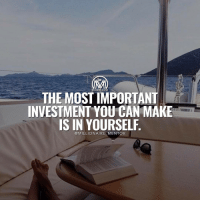 Memes, 🤖, and Invest: MILLIONAIRE MENTOR  THE MOSTIMPORTANT  INVESTMENT YOUCAN MAKE  IS IN YOURSELF  MILLIONAIRE  MENTOR Because the more you learn, the more you earn. Never stop self educating yourself, use the resources you have available like the internet, books, mentors, etc 🐼 ✔️ millionairementor