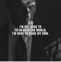 I'm here to make my own world with my own rules. 🔥 - world rules millionairementor: MILLIONAIRE METOR  IM NOT HERE TO  FIT IN WITH THE WORLD,  I'M HERE TO MAKE MY OWN. I'm here to make my own world with my own rules. 🔥 - world rules millionairementor