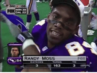 Happy 40th birthday, homie! This has to be the best 3 reception stat line ever 🔥😈: MIN 39  FOX  DAL 22  RANDY MOSS  CATCHES  163  FOX  TD Happy 40th birthday, homie! This has to be the best 3 reception stat line ever 🔥😈