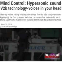 Mind Control Hypersonic Sound V2k Technology-Voices in Your