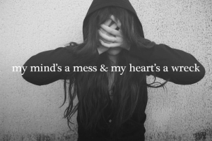 Target, Tumblr, and Black: mind's a mess & my heart's a wreck the-personal-quotes:  black  white quotes/GIFS