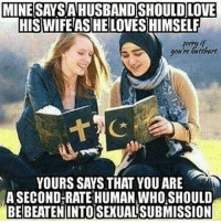 America, Butthurt, and Funny: MINE SAYSAHUSBANDSHOULDLOVE  HIS WIFE ASHE LOVESHIMSELF  youre butthurt  YOURS SAYS THAT YOU ARE  ASECOND RATE HUMAN WHO SHOULD  BEIBEATENINTOSEXUALSUBMISSION Religion of peace. 🔴www.TooSavageForDemocrats.com🔴 JOINT INSTAGRAM: @rightwingsavages Partners: 🇺🇸👍: @The_Typical_Liberal 🇺🇸💪@theunapologeticpatriot 🇺🇸 @DylansDailyShow 🇺🇸 @keepamerica.usa 🇺🇸@Raised_Right_ 🇺🇸@conservative.female 😈 @too_savage_for_liberals 🇺🇸 @Conservative.American DonaldTrump Trump HillaryClinton MakeAmericaGreatAgain Conservative Republican Liberal Democrat Ccw247 MAGA Politics LiberalLogic Savage TooSavageForDemocrats Instagram Merica America PresidentTrump Funny True sotrue