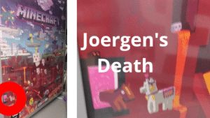 Minecraft, Walmart, and Death: MINECHAFT  Joergen's  Death Minecraft predicted Joergen's death (from the poster section in Walmart)