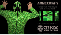 The start of Minecon 2016 is creeping closer. Creep back with our Premium Creeper Hoodie. http://buff.ly/1pJYMKA: MINECRAFT  CREEPER PREMiu M  ZIP-uP HOO DIE  GET YOURS NOW AT  WWW.JINX.COM The start of Minecon 2016 is creeping closer. Creep back with our Premium Creeper Hoodie. http://buff.ly/1pJYMKA