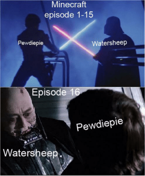 «Watersheep was like a father to me»: Minecraft  episode 1-15  Pewdiepie  Watersheep  Episode 16  Pewdiepie  | Watersheep «Watersheep was like a father to me»