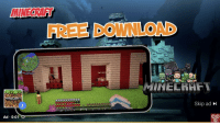 Fbi, Minecraft, and Saw: MINECRAFT  FREE DOWNLOAD  MINECRHFT  Skip ad  Ad 0:01