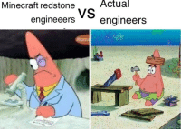 Minecraft, Reddit, and Cool: Minecraft redstone  Actual  engineeers  engineers