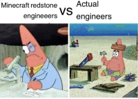 Minecraft, Engineering, and Minecraft Redstone: Minecraft redstone  Actual  engineeersengineers No question