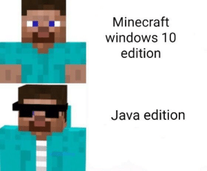 Minecraft Windows 10 Edition Java Edition Java Edition Best Edition