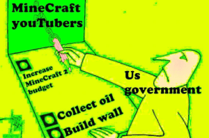 Dank, Memes, and Minecraft: MineCraft  you'Tubers  Increase  MineCraft 2  budget  Us  government  Collect oil  Build wall MineCraft YouTubers control the government by liavz123 FOLLOW 4 MORE MEMES.