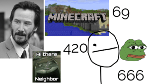 Reddit, Starter Pack, and Starter: MINECRAFT89  420  Hi there  666  Neighbor Reddit starter pack, made by yours truly...