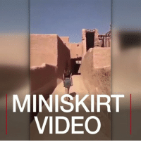 Memes, News, and Police: MINISKIRT  VIDEO JUL 18: The Saudi Arabian authorities are questioning a young woman who wore a miniskirt and crop top in public. The footage has sparked a heated debate on social media, and some have called for her arrest for breaking the country's conservative dress code. For more: bbc.in-saudiwoman skirt miniskirt saudiwomen saudi saudiarabia arabia village government police arrest youngwoman rebel video videooftheday videos videogram news bbcshorts bbcnews @bbcnews