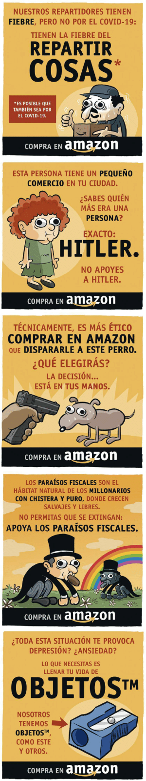 miniyo:  COMPRAR EN AMAZON vs COMPRAR EN COMERCIO LOCAL` [ver todas las viñetas aquí] Rubén Fernández, en El Jueves [web] https://www.eljueves.es/ [twitter] @eljueves [facebook] https://www.facebook.com/eljueves/ [twitter] @thefdez   [tumblr] https://thefdez.tumblr.com/ : miniyo:  COMPRAR EN AMAZON vs COMPRAR EN COMERCIO LOCAL` [ver todas las viñetas aquí] Rubén Fernández, en El Jueves [web] https://www.eljueves.es/ [twitter] @eljueves [facebook] https://www.facebook.com/eljueves/ [twitter] @thefdez   [tumblr] https://thefdez.tumblr.com/