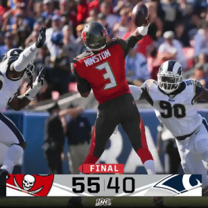 FINAL: The @Buccaneers come to California and take down the defending NFC Champions!  #TBvsLAR https://t.co/ymGRuZjXoT: MINSTON  50  Rem  FINAL  55 40 FINAL: The @Buccaneers come to California and take down the defending NFC Champions!  #TBvsLAR https://t.co/ymGRuZjXoT