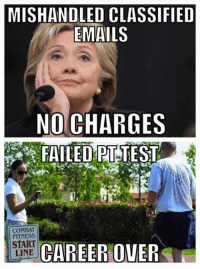 Equality...: MISHANDLED CLASSIFIED  EMAILS  NO CHARGES  FAILED TEST  COMBAT  START  CAREER OWER  LINE Equality...