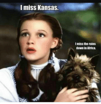Africa, Kansas, and Down: miss Kansas  I miss the rains  down in Africa.