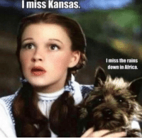 Africa, Irl, and Me IRL: miss Kansas.  I miss the rains  down in Africa.