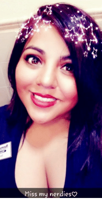 Miss my nerdieso I know I'm slowly getting back on here, I was MIA for a while!  Sorry , I was coordinating my nieces Quinceañera (which in the Mexican culture, it's a huge deal) so now that it's done, I'm back ! Miss you guys and for quick posting add me on  Snapchat= ng_arshisstar