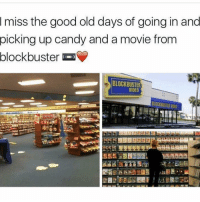 "Blockbuster, Memes, and 🤖: miss the good old days of going in and  picking up candy and a movie from  blockbuster  BLOCKBUSTER  VIDEO  BLOCKBUSTER I wonder who can comment ""TRUE"" letter by letter without being interrupted😂👇🏽😂👇🏽😂"