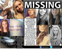 "Confused, Memes, and Tattoos: MISSING  $15,000 REWARD!  ""Likely Abducted  #Find Ebby Jane EBBY  JANE STEPPACH, age  now 19, disappeared  from LITTLE ROCK,  ARKANSAS on  10/24/2015. On  10/25/2015, Ebby called  there a  her brother sounding  confused and disori-  ented, saying she was  lost. No one has heard  from her since. Ebby is  5'2"" tall, 110 lbs., has  blonde hair, hazel eyes,  Ebby's silver  2003 Volkswagen  a nose & belly piercing  Passat was found  and a tattoo on her right  near Cantrell and  side near rib cag.  Chenal Parkway  Anyone with informa  in west Little  tion, please call the  Rock, AR on  Little Rock Police at  10/30/2015, Inside  501) 371-4829 or 911  were her cell  phone and  missingcases  tl@missingcases  contact lenses #FindEbbyJane $15,000 Reward! Due to the amount of time that has passed since Ebby Steppach vanished without a trace, there is a very high likelihood Ebby was abducted and is being held prisoner or being held against her will and used in sex trafficking!   Someone out there knows something. All they have to do is call the number on the flyer and they could be eligible for that reward.   This is how this works. I post the flyer, you share it no matter where you live because she could be anywhere by now, your friends share it, their friends share it and it just keeps going until it reaches the right person who has that information to bring Ebby home! Let's get to work! Thanks for your help!  To continue assisting with missing & unidentified persons and wanted fugitive cases please follow Locate The Missing"