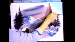 missing-the-90s: Bob Ross peeling contact paper is the most satisfying thing I've seen today: missing-the-90s: Bob Ross peeling contact paper is the most satisfying thing I've seen today