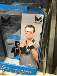 Football, Funny, and Drew Brees: MISSION  COOLS  NSTANTLY  WHEN WET  PREMIUM  COOLING  TOWEL  DREW BREES  TONEL  TANTY WHEN WET I would like to tell you my glory days how I scored four touchdowns in one football game and won the very last city championship trophy that Polk High had.