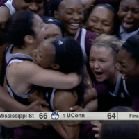 Fashion, Memes, and Game: Mississippi St 66 1 UConn  64  Fina It took heroics to end the streak. Mississippi State ends UCONN's 111 game winning-streak in unforgettable fashion.