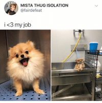 If you want to laugh more follow @funny 😂: MISTA THUG ISOLATION  @fairdefeat  i<3 my job If you want to laugh more follow @funny 😂