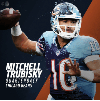 Welcome to Chicago, @Mtrubisky10!  #NFLDraft https://t.co/R4syONEA2H: MITCHELL  TRUBISKY  UARTER BACK  CHICAGO BEARS  NFL  Riddell. Welcome to Chicago, @Mtrubisky10!  #NFLDraft https://t.co/R4syONEA2H