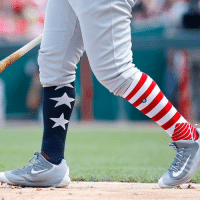 @MLB players show off their American pride with patriotic socks! ProudAmerican 🇺🇸 (📷: Getty Images): @MLB players show off their American pride with patriotic socks! ProudAmerican 🇺🇸 (📷: Getty Images)