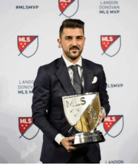 Soccer, David Villa, and Mls: MLSMVP  LANDO  DONOV  MILS  MLS  LANDON  DONOVAN  MLS MVP  SMVP  LANDON Still got it! David Villa named the MLS 2016 MVP!