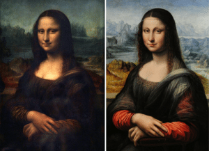"Beautiful, Community, and Leonardo Da Vinci: mmkayn:  vastderp:  lalaland1212:  theatre-whovian:  vastderp:  Meet the Mona Lisa of the Prado, the earliest known copy of Da Vinci's best portrait. Similarity in the undersketch of the painting indicates that this was very likely painted concurrently with the original Mona Lisa, by a student of Da Vinci. There is much controversy in the art world over the question of whether or not to clean the fragile Mona Lisa, but her sister has been restored and some fairly odd later alterations removed to show the original vibrant colors and lighting. Some details, such as the sheerness of her shawl and the pattern on the neckline of her dress, have become utterly obscured in the original, but in the restored copy they're perfectly clear. It blows my mind a little bit to look at these two sisters side-by-side and imagine how much vivid detail could be hiding in the Mona Lisa under 500 years of rotten varnish.   THE COPY HAS EYEBROWS  Your response to a beautiful piece of artwork done by Leonardo Da Vinci himself is ""SHES GOT EYEBROWS"". Alright. All intelligent life has been lost.  Yo Snooty McSnotwhine, the Mona Lisa's vanished eyebrows have been the subject of debate and analysis in the art expert community for hundreds of years, long before your parents squirted water at each other from across the clown car and then honked their bicycle horns to indicate they really wanted to make a smug, insufferable little clown baby together.   this continues to be the best reply to a criticizing comment on this site"