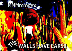 E A R: MMMmmmm  THE  WALLS HAVE EARS! E A R
