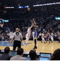 Great fan clip of KD drilling the deep and demoralizing 3-pointer in Westbrook's face. 🎂 (via @benz1no): MMoFasT BANK ediad,霥 Theonicial Bank of the Oklahoma City Thund  냘  37 Great fan clip of KD drilling the deep and demoralizing 3-pointer in Westbrook's face. 🎂 (via @benz1no)