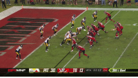 Espn, Memes, and Goal: MNF  4TH 11:12 04 3RO & Goal Don't count the @Buccaneers out yet.  Fitzmagic lofts it to Godwin for the TD! #GoBucs  📺: #PITvsTB on ESPN https://t.co/Nf6vZmhx8f