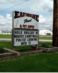 Damn police!: MO  HOLE DRILLED IN  NUDIST CAMP WALL  POLICE LOOKING  INTO IT Damn police!