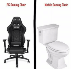 Anyone else? No, only me?: Mobile Gaming Chair  PC Gaming Chair  anda aeat Anyone else? No, only me?