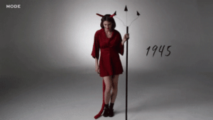 Anaconda, Halloween, and Tumblr: MODE  1945 hairstylesbeauty:Video and Gifs: 100 Years of Halloween Costumes in 3 minutes