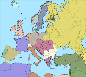 Dank, Europe, and Http: Modern European borders superimposed over Europe 1914 Source: http://ow.ly/7ixf50p6ANx
