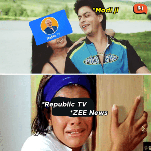 Memes, News, and 🤖: *Modi ji  NaMo TV  Republic TV  ZEE News *cries @ 9PM every night*