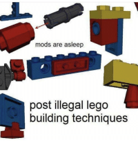 lego: mods are asleep  post illegal lego  building techniques