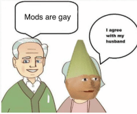 Husband: Mods are gay  I agree  with my  husband